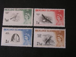 Falkland Is.  Scott 128 - 131 (4) 1/2p+1p+2p+21/2p Values 1960 Qe2 Definitive Mlh photo