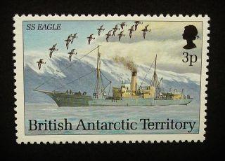 British Antarctic Territory Qeii 3p Stamp C1993 Ss Eagle,  Ship,  Um,  A909 photo