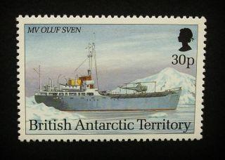 British Antarctic Territory Qeii 30p Stamp C1993 Mv Oluf Sven,  Ship,  Um,  A912 photo