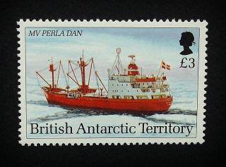 British Antarctic Territory Qeii £3 Stamp C1993 Mv Perla Dan,  Ship,  Um,  A913 photo