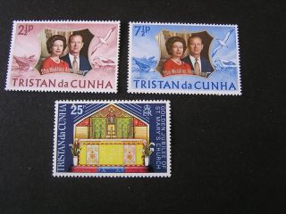 Tristan Da Cuhna,  Sco.  178/179 (2) +180 1972 Silver Wedding Issue photo