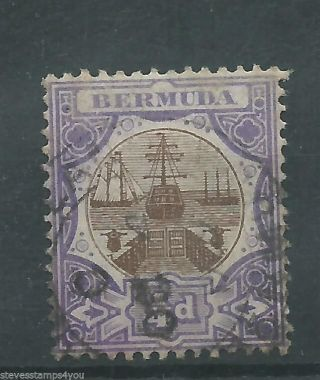 Bermuda - 1908 - Sg34 - Cv £ 1.  50 - photo