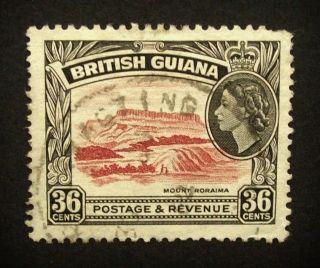 British Guiana Qeii 36c Stamp C1954 - 63 Mount Roraima,  A926 photo