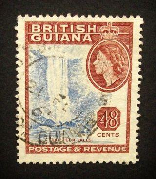 British Guiana Qeii 48c Stamp C1954 - 63 Kaieteur Falls,  A927 photo