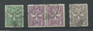Malta - 1925 - Sgd11 Sgd12 & Sgd14 - P12.  00 - Cv £ 2.  50 - photo