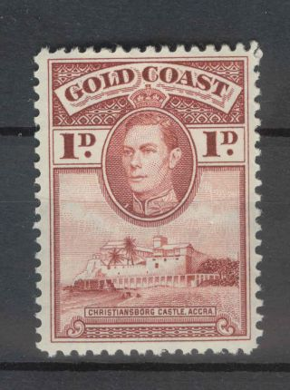 Gold Coast Kgvi 1938 1d Red - Brown Sg121 Line Perf 12 photo