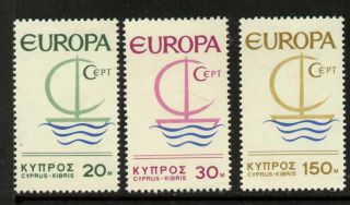 Cyprus 275 - 7 Mh Europa,  Symbolic Sailboat photo