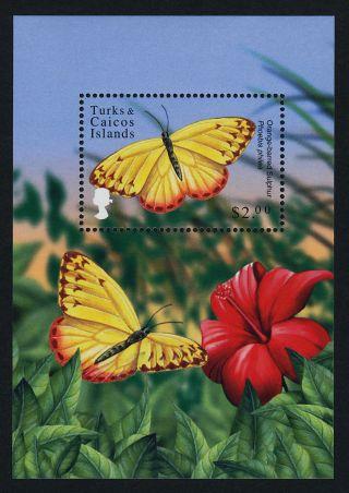 Turks & Caicos Islands 1320 Butterflies,  Flowers photo