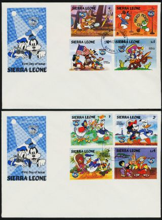 Sierra Leone 657 - 65 Fdc ' S Disney,  Donald Duck,  Birthday photo