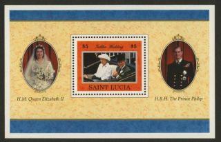 St Lucia 1071 Queen Elizabeth Golden Wedding photo