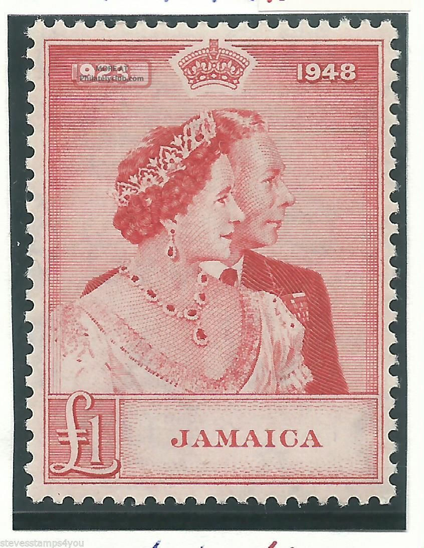 Jamaica - 1948 - Silver Wedding - Sg144 - Cv £ 28.  00 - Mounted British Colonies & Territories photo
