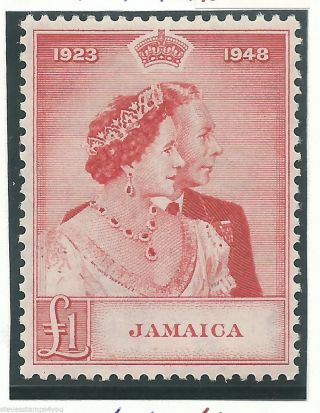 Jamaica - 1948 - Silver Wedding - Sg144 - Cv £ 28.  00 - Mounted photo