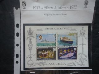 Anguilla 1977 Silver Jubilee M/s photo