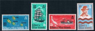 Gilbert & Ellice Is 1970 Cent Of Landing Sg 166 - 9 photo