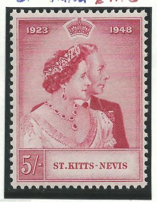 St Kitts - Nevis - 1949 - Silver Wedding - Sg81 - Cv £ 9.  00 - Mounted photo
