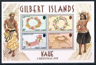 Gilbert Is 1978 Christmas Kaue Sg Ms 79 photo