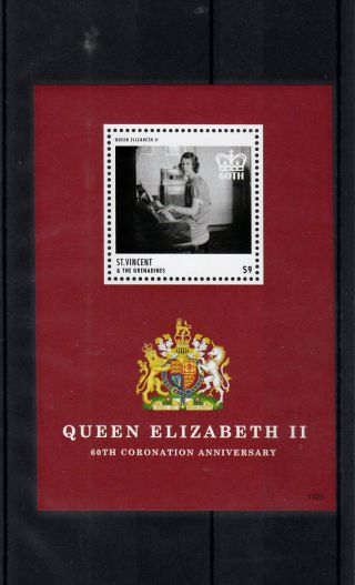 St Vincent & Grenadines 2013 Coronation Queen Elizabeth Ii 60th Anniv 1v S/s photo
