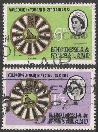 Rhodesia & Nyasaland.  1963 World Council Of Young Mens Service Clubs.  B2a16 photo