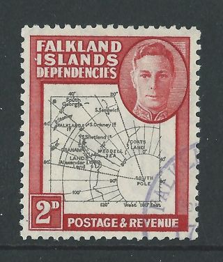 1946 Falkland Is Deps Sg G3aa 2d Map With Gap In 80th Parallel & Extra Island photo