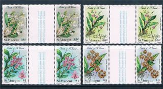 St Vincent 1985 Orchids Gutter Pairs Sg 850 - 3 photo