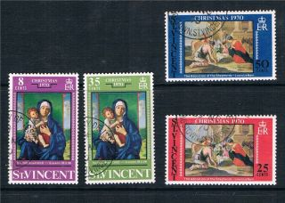 St Vincent 1970 Christmas Sg 314 - 7 Vfu photo