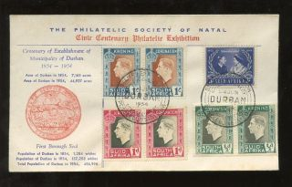 South Africa 1954 Civic Centenary Exhibition Natal Special Illustrated Cover photo