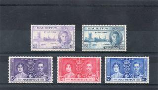 Mauritius G V1 1937&46 Coronation&victory Nhm photo