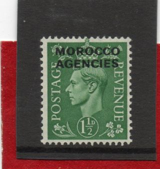 Morocc0 Agencies G V1 1951 1.  1/2d Pale - Green Sg 96 H. photo
