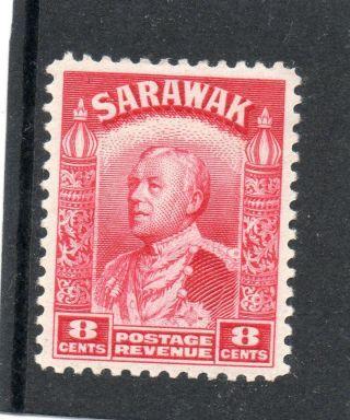 Sarawack Gv1 1941 8c Carmine Sg 112a H. photo