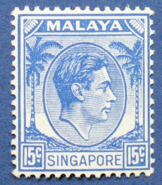 1948 Singapore 15c Scott 11 S.  G.  8 Cs00644 photo