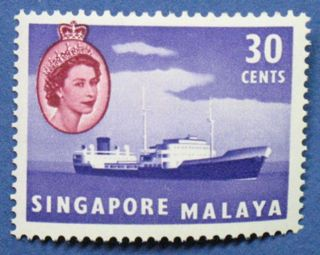 1955 Singapore 30c Scott 38 S.  G.  48 Cs00663 photo