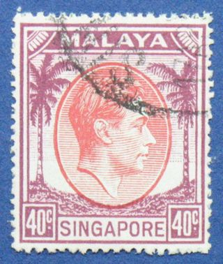 1951 Singapore 40c Scott 16a S.  G.  26 Cs00670 photo