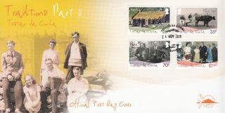 Tristan Da Cunha 2010 Fdc Traditions Part Ii 4v Cover Thatching Cows Music Dance photo