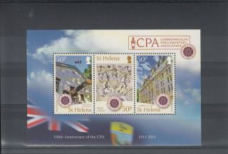 St Helena 2011 Centenary Commonwealth Parliamentary Assoc Sg Ms1174 Cpa photo