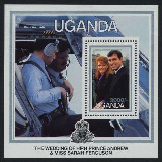 Uganda 513 Prince Andrew,  Sarah Ferguson Wedding,  Helicopter photo