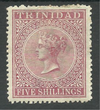 Trinidad Sg87 The 1869 Victorian 5/ - Rose - Lake Mounted Cat £170 photo