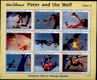 Maldives 1926 Disney,  Peter & The Wolf (light Creases) photo