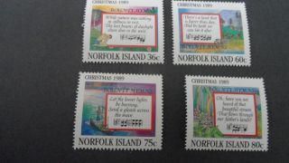 Norfolk Island 1989 Sg 470 - 473 Christmas photo
