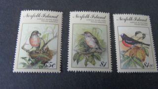 Norfolk Island 1990 Sg 505 - 507 Birdpex 90 Stamp Ex photo
