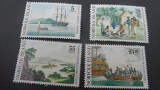Norfolk Island Sg 460 - 463 Mutiny On The Bounty photo