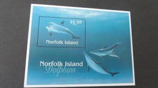 Norfolk Island 1997 Ms642 Dolphins photo