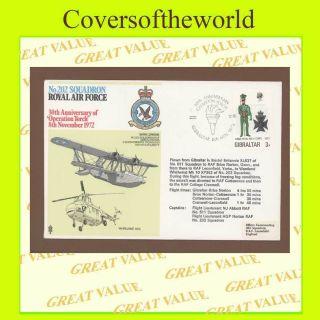 Gibraltar 1972 No 202 Squadron Raf Flown Cover photo