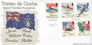 Tristan Da Cunha 2010 Fdc Island Families Surnames 5v Cover Birds Hoopoe Eagle photo