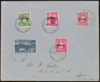 Samoa - Zealand In 1914 Defs Sg 115 - 21 Envelope Apia 17 Jun 1916 photo