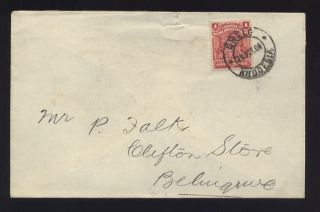 Rhodesia 1906 Cover Solo 1d Aa Trading Gwelo. . .  Belingwe photo