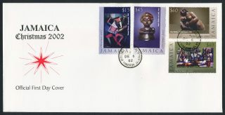 Jamaica 961 - 4 Fdc Christmas,  Art photo