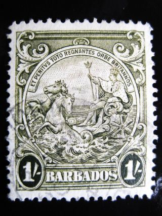 Barbados 1938 1sh Olivegreen Stamp Sc 200a