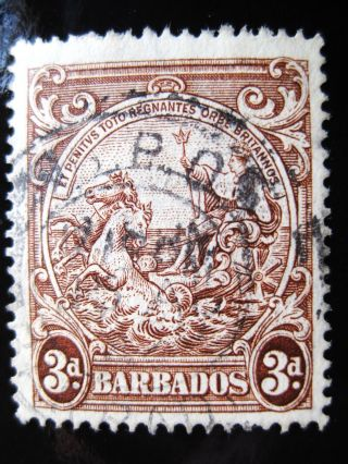 Barbados 1938 3p Brown Stamp Sc 197