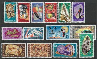 Nigeria 1965 - 1966 Sc 184 - 197 Birds Animals photo