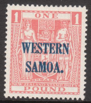 Western Samoa 1945 1948 Sg210 Mm Stamp Wmk 98 photo